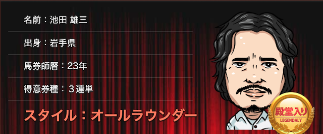 的中総選挙殿堂入り馬券師池田雄三