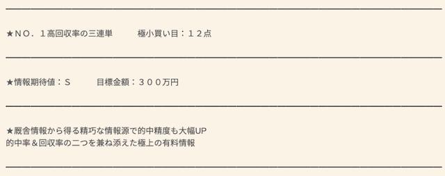 競馬報道.comの極上/厩舎大穴報道
