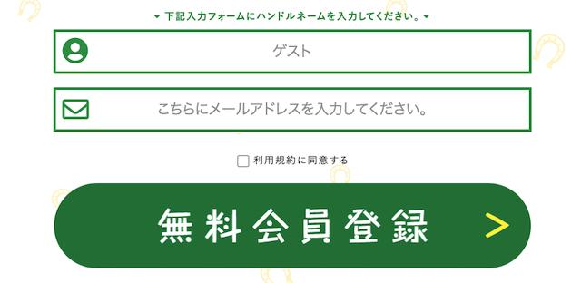 ファイナルホースの登録画面