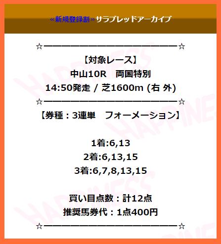 競馬予想サイトハピネスの有料情報0404